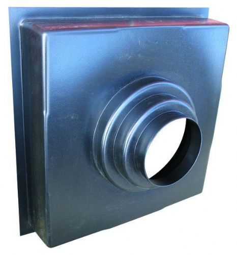 Polymer Plenum Boxes 450mm Black Plastic Finish Top Entry 100mm To 200mm